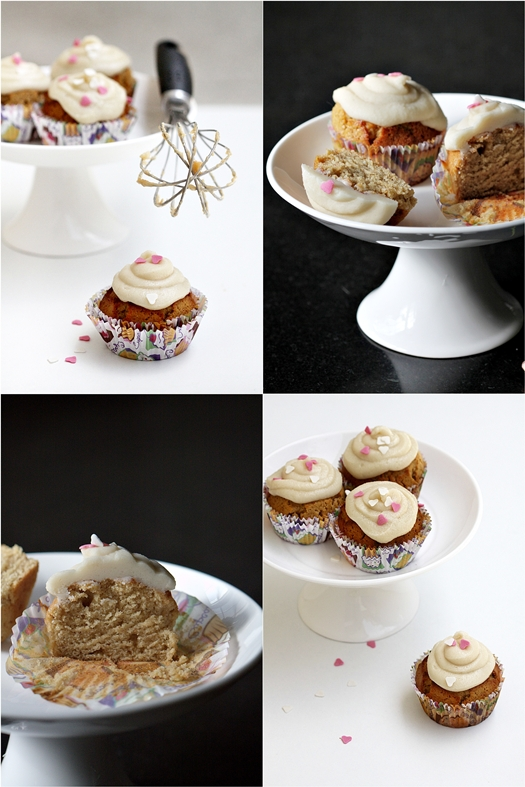 Almond Cupcakes with Salted Caramel Buttercream