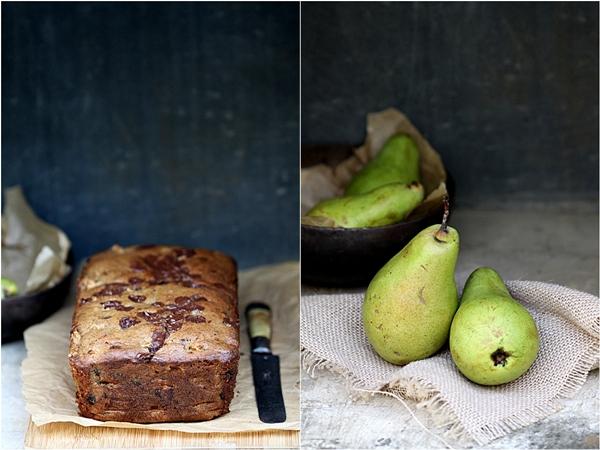 Chocolate-Pear Tea Bread