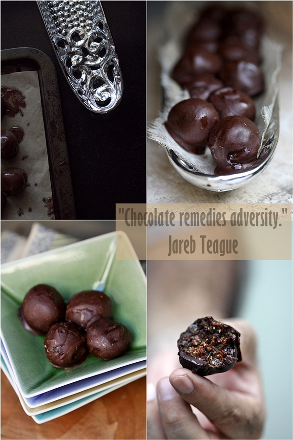 Date, Prune & Walnut Chocolate Truffles