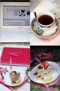 Lime & Strawberry Cream Cake