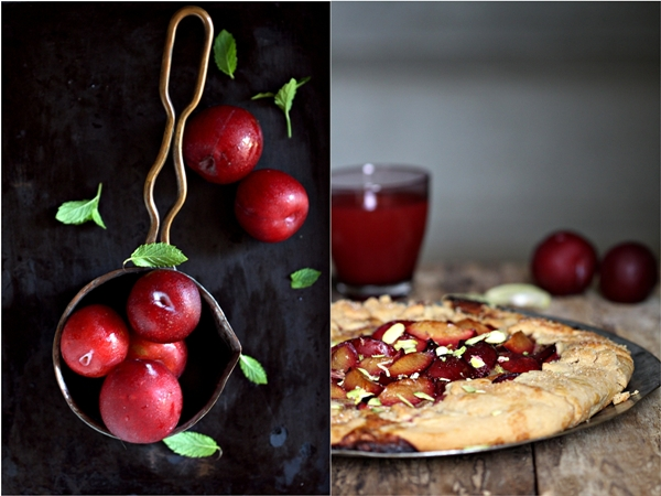 Wholewheat Plum Frangipane Galette