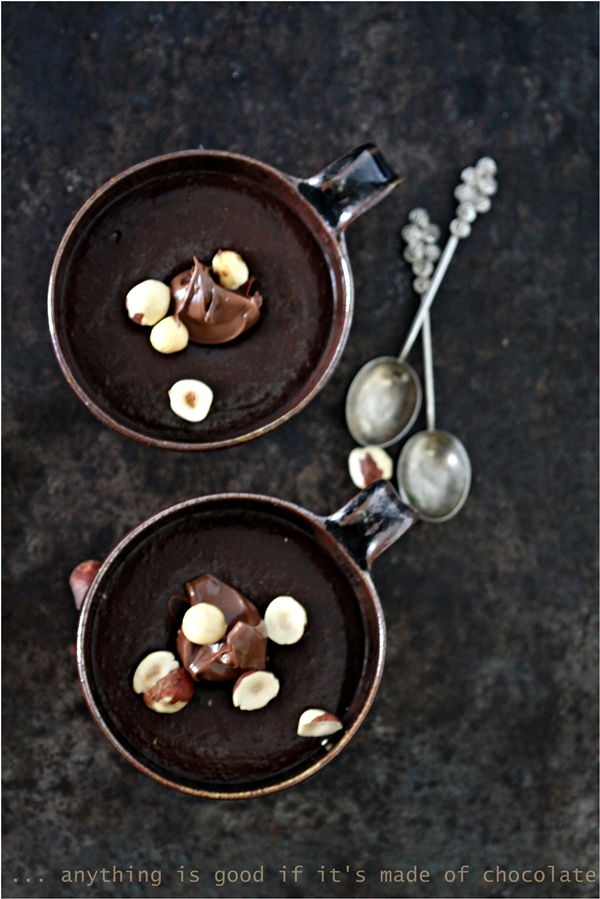 Dark Chocolate Nutella Kumquat Pudding {GF Eggless}