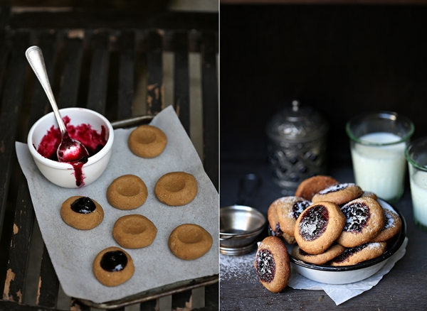 World Feast by Vikas Khanna,Lingonberry Thumbprint Cookies