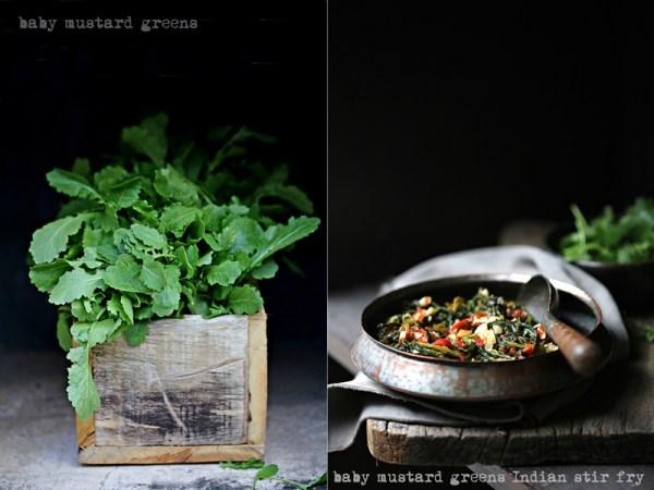 Baby mustard greens stir fry 800