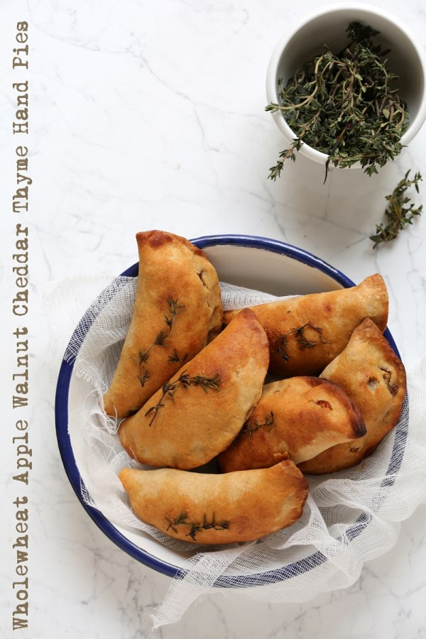Wholewheat Apple Walnut Cheddar Thyme Hand Pies