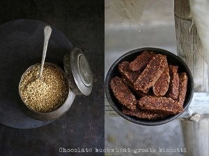 Chocolate buckwheat groats biscotti