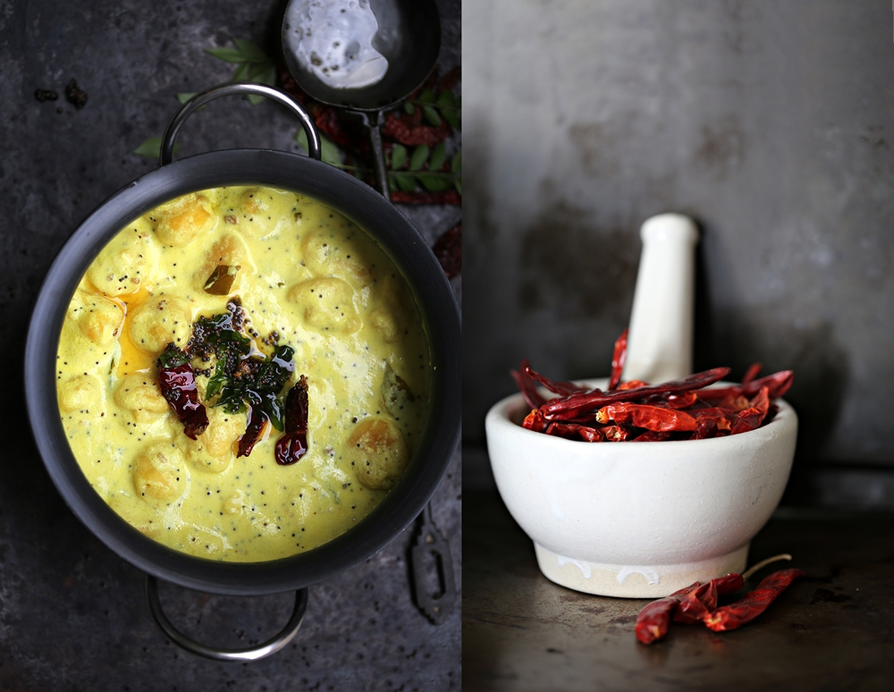 Kadhi, Indian vegetarian yogurt curry with dumpligs