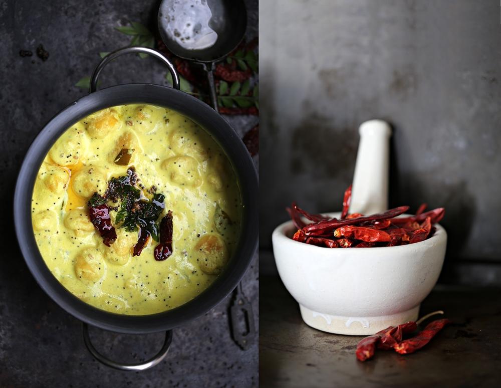 Kadhi, Indian vegetarian yogurt curry with dumpligs