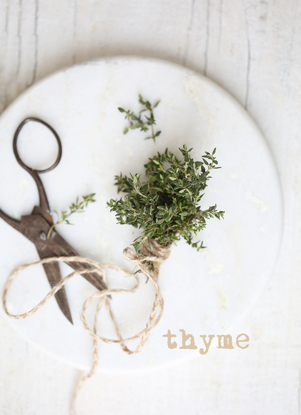Thyme, food styling, food photography