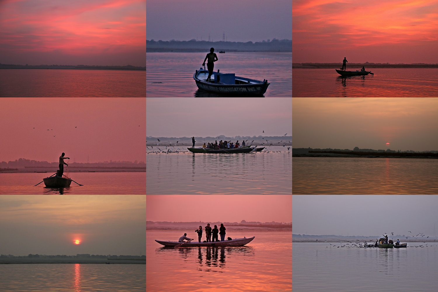 Sunrise over the Ganga, Banaras
