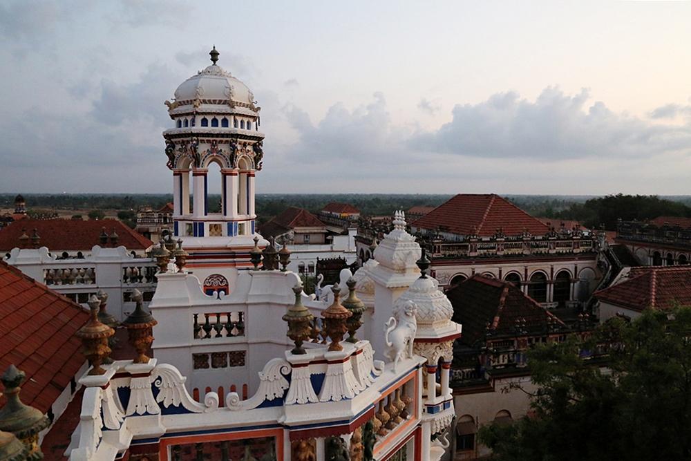 Sunrise at rooftop, Chidambaram Vilas, Karaikudi, Chettinad, South India