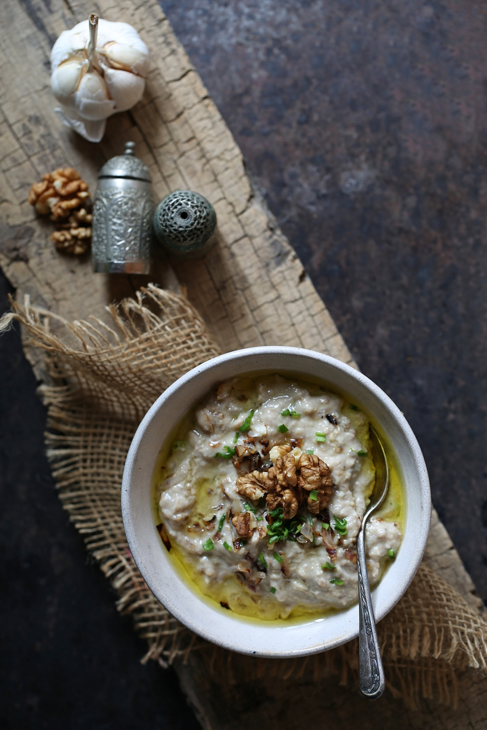 Persian Roasted Eggplant Walnut Dip