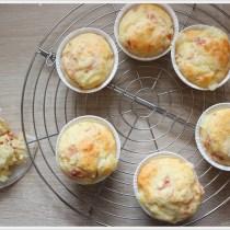 muffin al prosciutto e scamorza