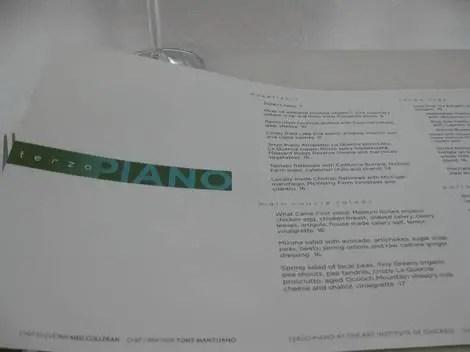 Piano menu