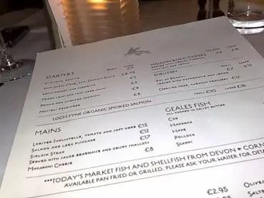 Geales_menu