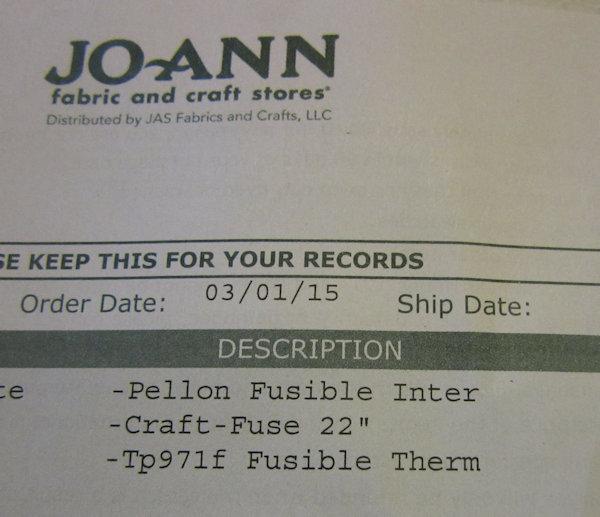 Order from JoAnn's