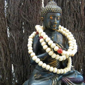 White Prayer Beads
