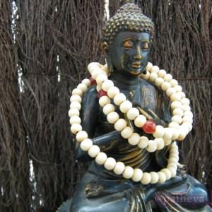 White Prayer Beads