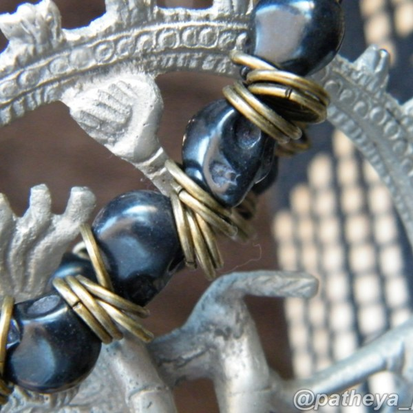 Black Skull and Bronze Bracelet