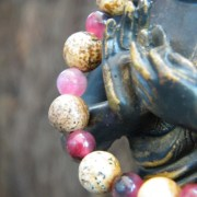 Detail of jasper and agate beads