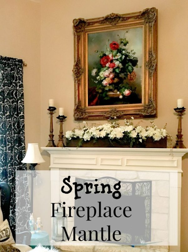 Spring Fireplace Mantle