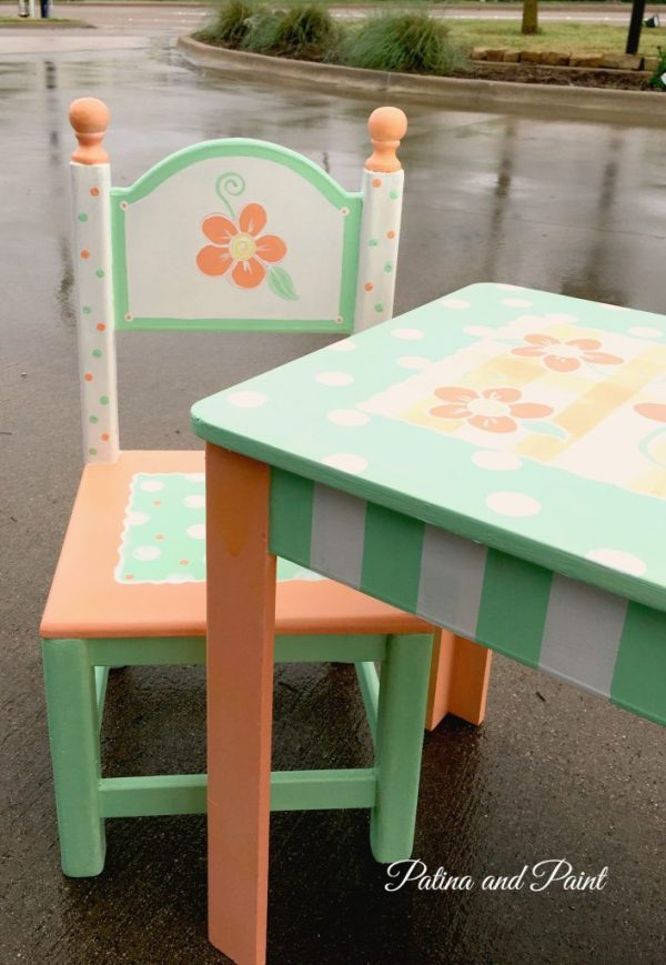 painted children table 1