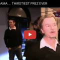 [VIDEO] David Spade Hammers The President Over Pop Culture Appearances