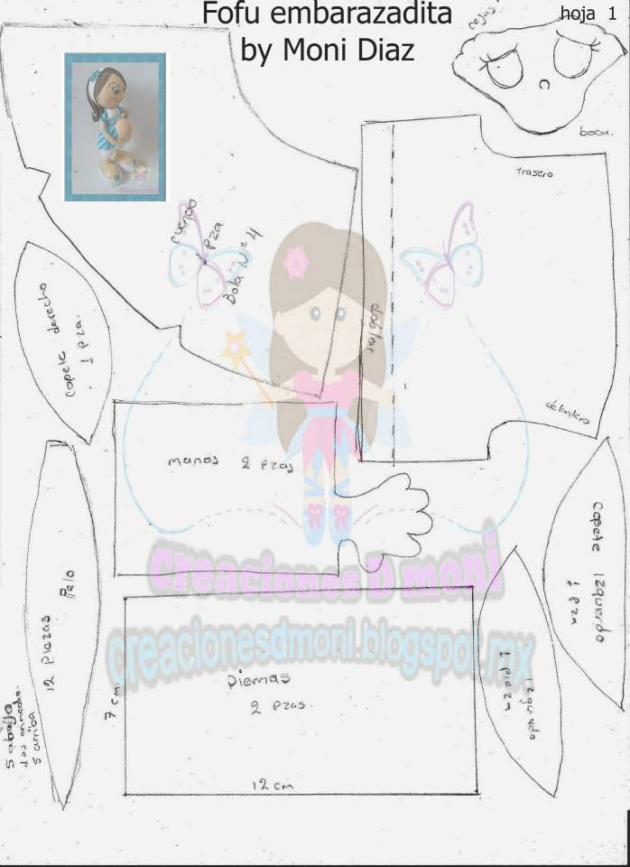 Fofucha embarazada diy patronesmil for Moldes para pavimentos de hormigon