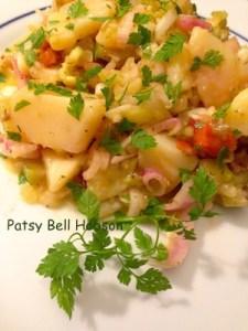 Chervil on potato salad