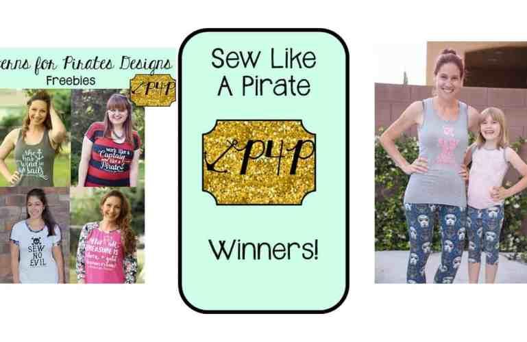 #SewLikeAPirate :: Contest Winners!