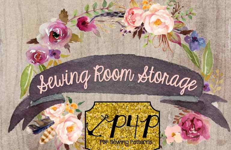 Sewing and Craft Room Storage Idea- Sew it, Win it, Build it- from P4P
