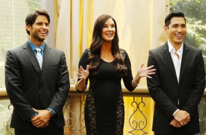 Patti Stanger, Justin Bird and David Cruz on the Millionaire Matchmaker