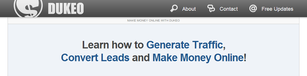 Dukeo – Blogging and Internet Marketing Tips [Website Review]