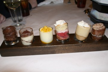 The dessert selection
