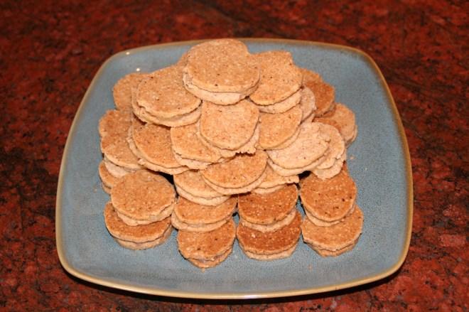 Ginger Lemon Shortbread Sandwich Cookies