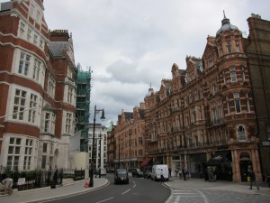 View of Mount Street from The Connaught Hotel in Mayfair