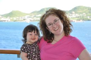 In St. Kitts w/ Mommy (November 2010)