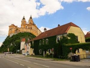 View of Melk's abbey...