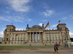 The impressive Reichstag...