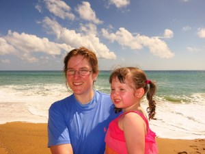 Libby and Emerson on Mai Khao Beach