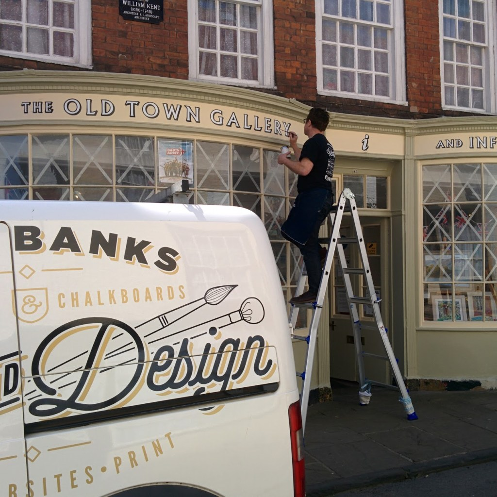 traditional shop front signwriting bridlington old town
