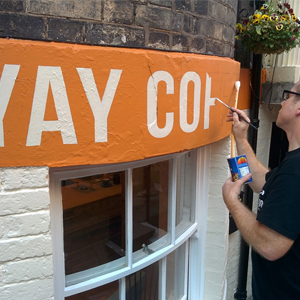 Signwriting Scarborough Coffee Shop