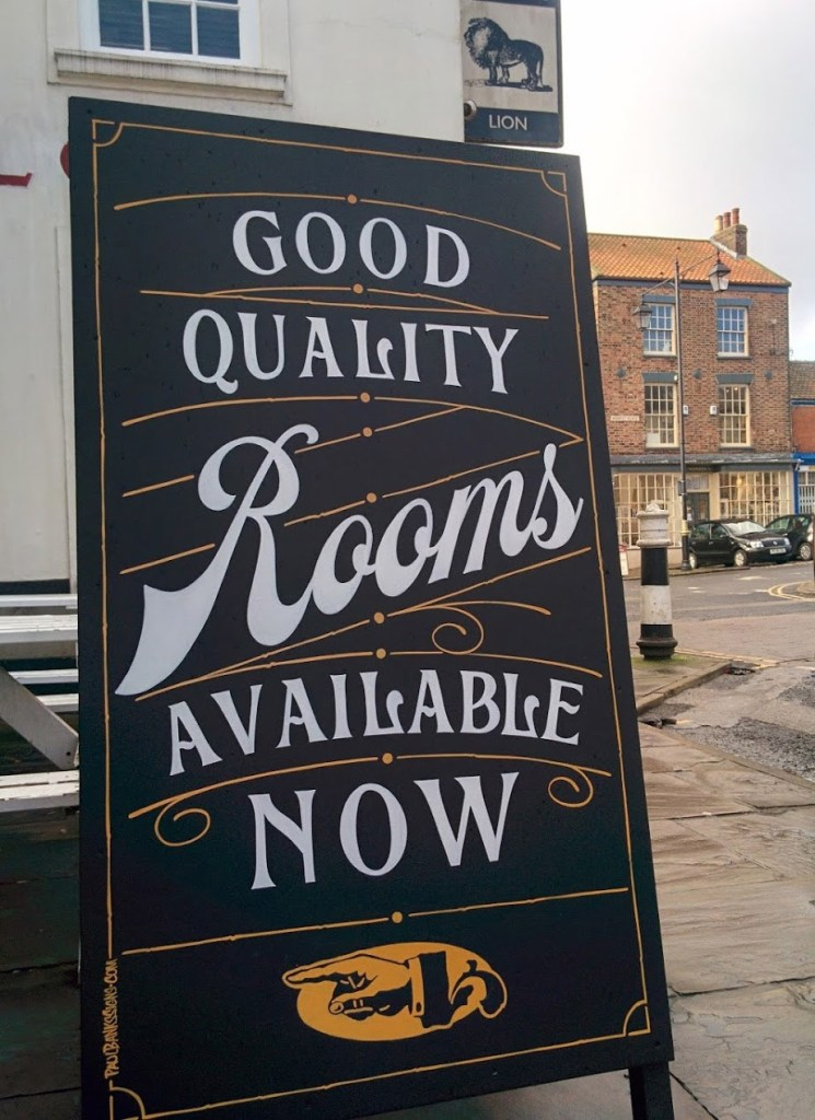 Black Lion Pub Sandwich Board Signwriting