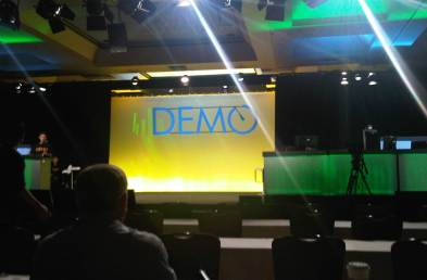 Photo of stage at DEMO12