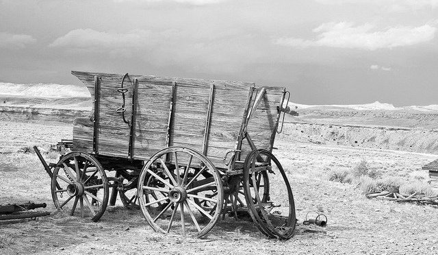 photo of broken down wagon
