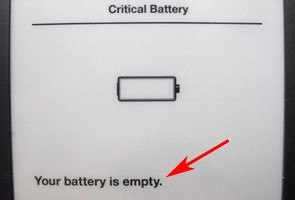 empty battery warning