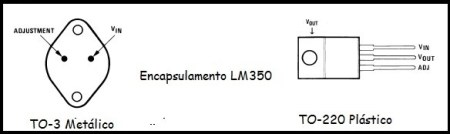 Encapsulamento do LM350