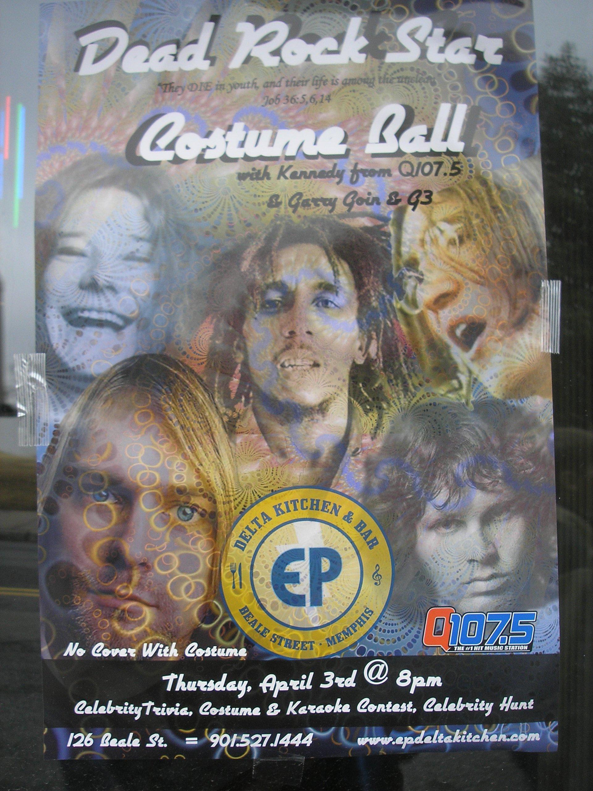 Party like a (dead) rock star – Paul Ryburn's Journal