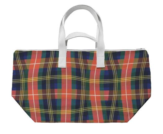 Paul S OConnor Bad Plaid Textile Print Bag Pattern