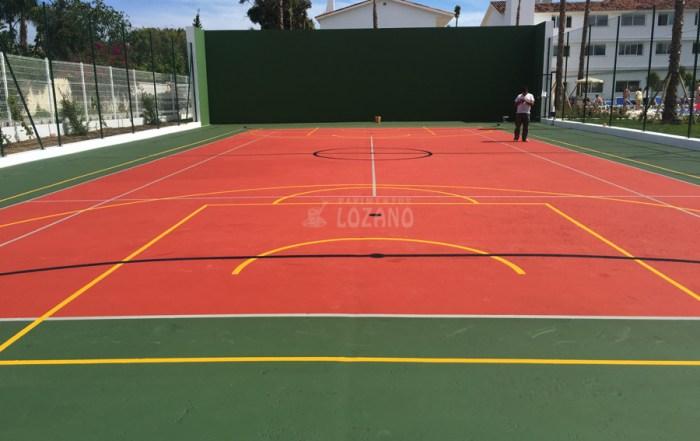Renovacion de pista polideportiva - Pavimentos Lozano